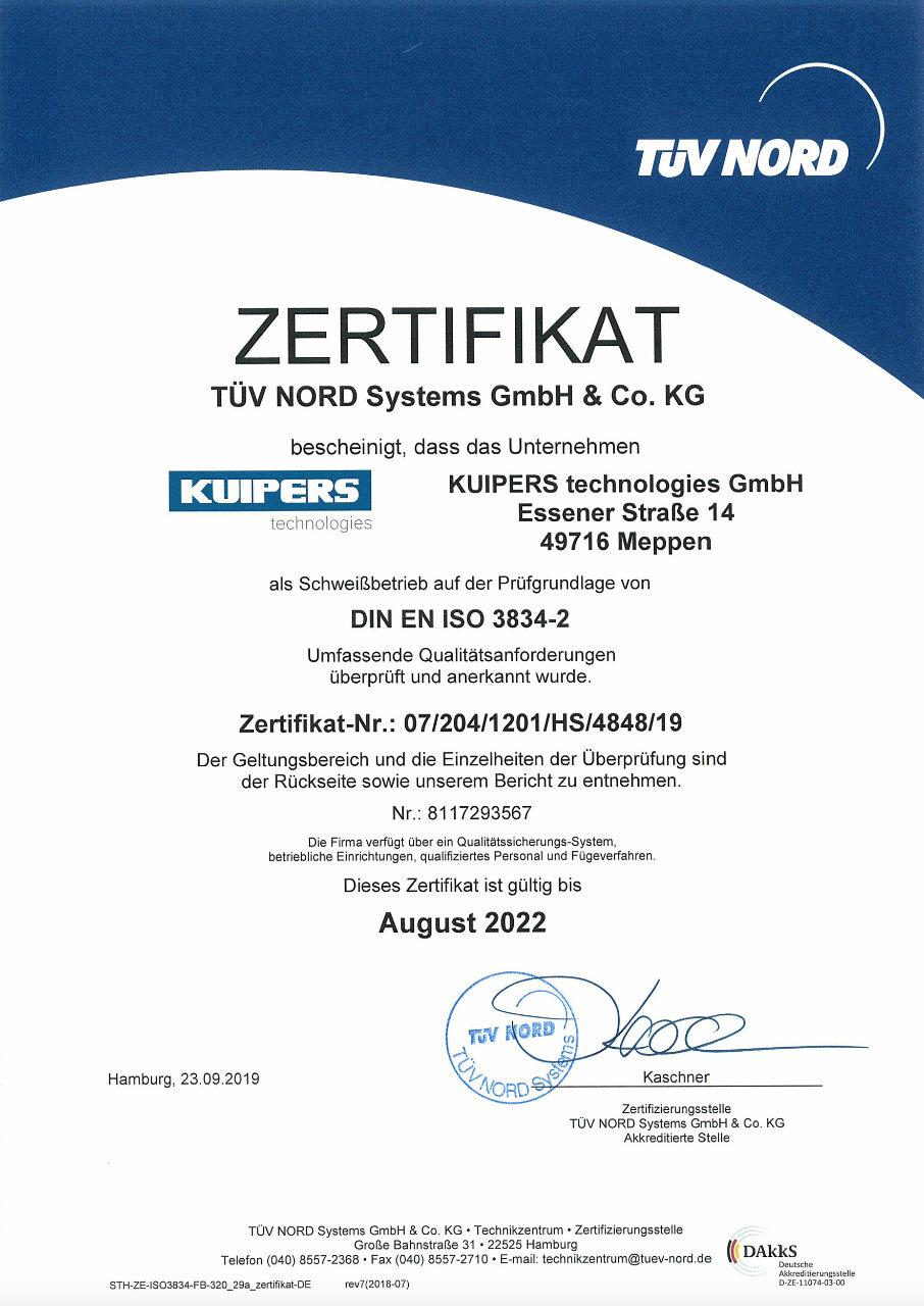 Zertifikat_Kuipers_technologies_DIN_EN_ISO_3834-2