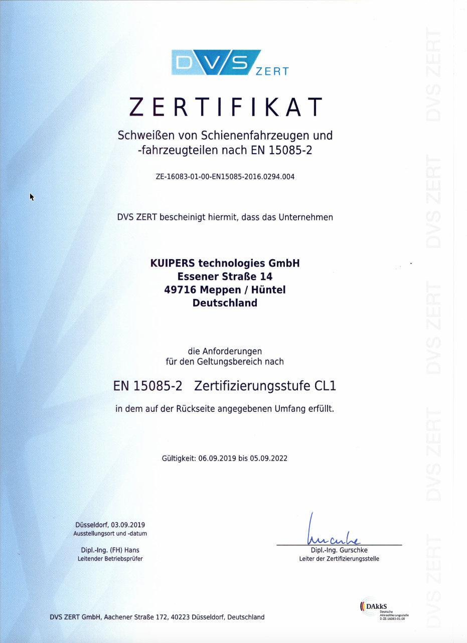 Zertifikat_Kuipers_technologies_EN15085-2_Schweißen_Schienenfahrzeugen